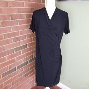 Norma Kamali little black faux Wrap Dress SZ L